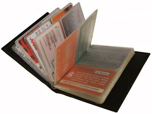 Genuine Leather 40 Business Cards Holder Case Organizer Credit Card Name Id Book