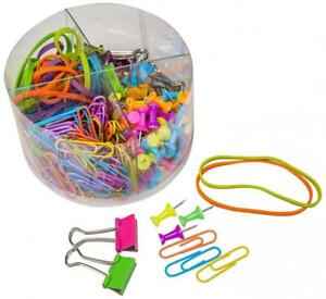 Putwo Office Supply Kit Pushpins Paper Clips Binder Rubber Bands Desk