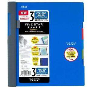 Five Star Advance Spiral Notebook 3 Subject College Ruled Paper 150