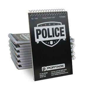 Portage Police Notebook Pocket Sized 3 75 X 6 Professional Top Bound