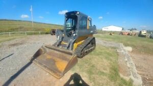 2014 John Deere 323e Cab A c Missing Door Track Skid Steer Joystick Used