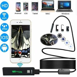 Usb Endoscope Camera Hd Ip68 Tube Wireless Wifi Borescope Video Inspection Home