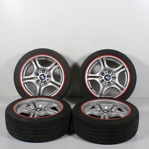2001 2002 2003 Bmw 330ci E46 Set Of 4 Rims M And Tires 225 45 R17 Oem