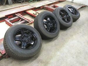 2003 08 Mercedes Benz G55 Amg Oem 18 Black Rims And Nokian Tires Set Of 4