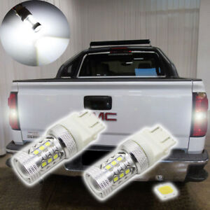 2x Super Bright For 1998 2013 Gmc Sierra 1500 Backup Reverse Lights 3535 Smd Led