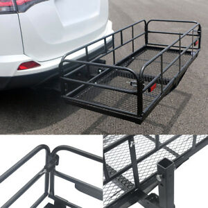Multifunctional Folding Hitch mount Cargo Carrier Exterior Basket Luggage Racks