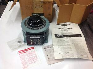 New Superior 236b Powerstat Variable Transformer 240v In 0 280v Out 10a 2 8kva