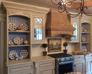 Custom Kitchen Hood Surround Range And Vent Cover Cast Stone Mantel stove