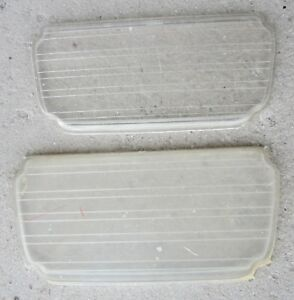 1956 Cadillac Front Fog Signal Light Lens Guide A5 56 Pair 2 Used Orig 56