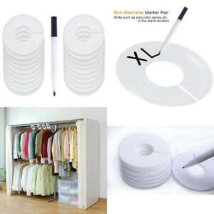 20 Pack Clothing Rack Size Dividers Round Hangers Dividers With 1 Piece Marker P