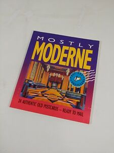 Vintage Mcm Art Deco Retro Mostly Modern Postcards Past Age Postcard Book 24x