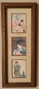 Japanese Woodblock Prints Utamaro Utagawa Eisen Professionally Framed