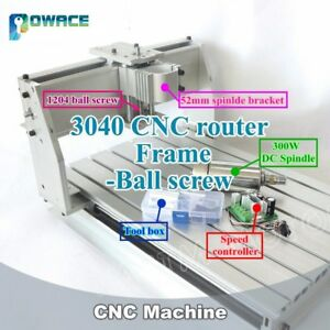 3040 Cnc Engraving Milling Router Machine Frame Kit 52mm Bracket 300w Dc Spindle