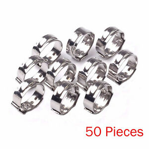 50pcs 1 2 Pex 17 5mm Stainless Steel Clamp Cinch Rings Crimp Pinch Fittings