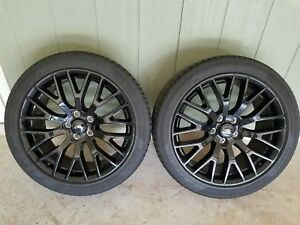 Ford Mustang Gt 19 Oem Wheels Pirelli Tires Staggered Factory 2015 2016 2017