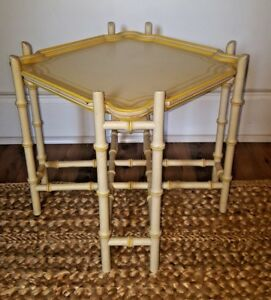 Vintage 1960 S Chinoiserie Faux Bamboo Tray Table By Baker Furniture Regency