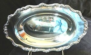 Lovely Antique Poole Epca Old English Silverplate Serving Tray Dish 5006 Usa