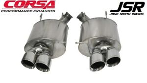 13 14 Mustang Shelby Gt500 Corsa 3 Sport Axle back Exhaust W Polished Tips