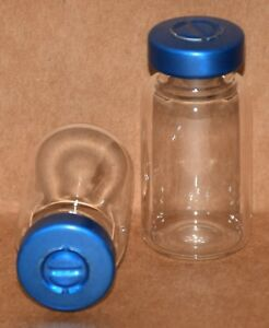 10 Ml Clear Sterile Vial With Blue Center Tear Seal Qty 100