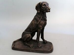 Early French Bronze Sporting Dog Figural Sculpture