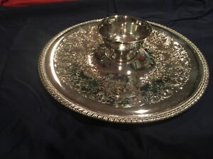International Silver Co Vintage Silver Plated Vegetable Tray And Bowl