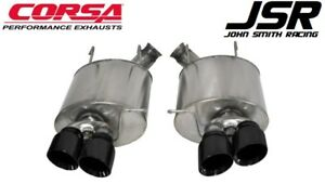 13 14 Mustang Shelby Gt500 Corsa 3 Sport Axle back Exhaust W Black Tips