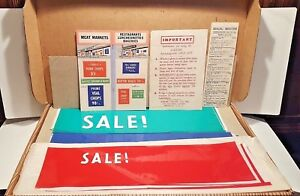 Vtg Sign Kit 1950s Static Cling Sticker Numbers Letters For Store Or Car Window