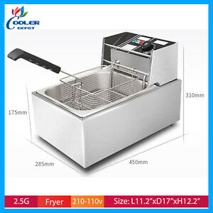 2 5 Gallon Deep Fryer Electric Counter Top Commercial Grade Single Cooler Depot