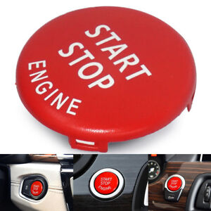 Red Engine Start Stop Switch Button Cover Fits Bmw E60 E70 E90 E92 E93 3 Series