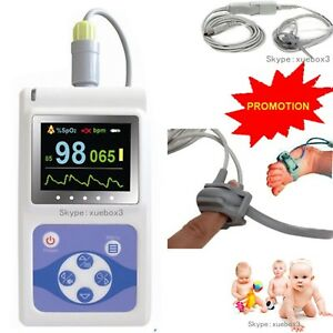 Hot Infant neonatal Pulse Oximeter Pr Animal Tongue Ear Spo2 Probe software new