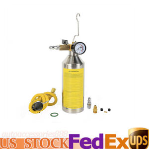 Flush Fuel Injector Cleaner Kit Yellow Canister Adapter Pressure Gauge 0 17psi