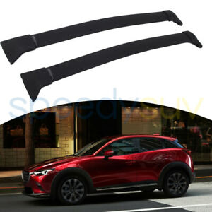 2 Pcs Aluminum Cross Bar Fit For Mazda Cx 3 Cx3 2016 2021 Roof Rack Rail