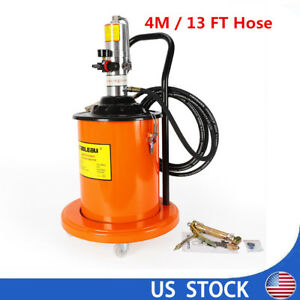 High pressure Grease Pump With Hose Gun Universal Casters 4m 13 Ft Hose Sale