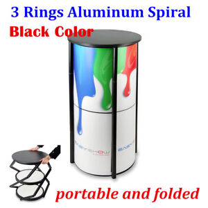 Portable And Folded 3 Rings Aluminum Spiral Tower Display System stand Only