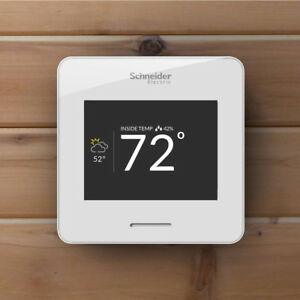 Smart Wi fi Thermostat Schneider Electric Wiser Air Comfort Control White New