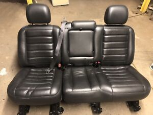 1999 07 Chevy Silverado Gmc Sierra Tahoe Crew Cab Truck Rear Bench Seat Leather
