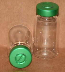 10 Ml Clear Sterile Vial With Green Center Tear Seal Qty 50