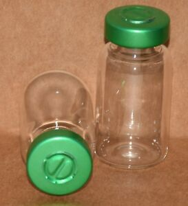 10 Ml Clear Sterile Vial With Green Center Tear Seal Qty 100