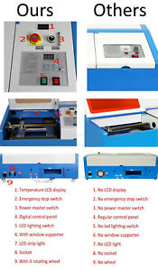 New 40w 220v Engraving Cutting Co2 Laser Usb Machine Engraver Cutter Woodworking