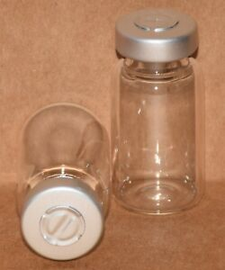 10 Ml Clear Sterile Vial With Natural silver Center Tear Seal Qty 25