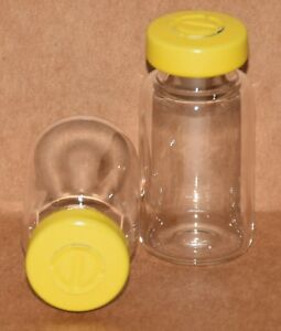 10 Ml Clear Sterile Vial With Yellow Center Tear Seal Qty 100