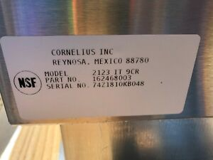Cornelius 2123 Ice tanier With 9 Curcuit Cold Plate New