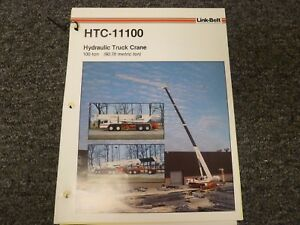 Link Belt Htc 11100 Hydraulic Crane Specifications Lifting Capacities Manual
