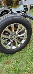Ford F150 King Ranch Oem Factory Rims Wheels Chrome And Tires Set Of 4 20s