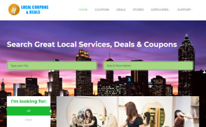 Local Deals Coupons Website For Sale Hosting Included