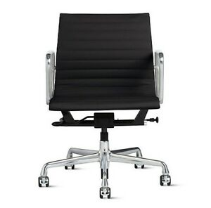 Eames Aluminum Management Chair With Pneumatic Lift Black Herman Miller Dwr