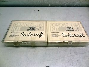 Lot Of 2 Coilcraft Designers Kit C100 Surface Mount Inductors