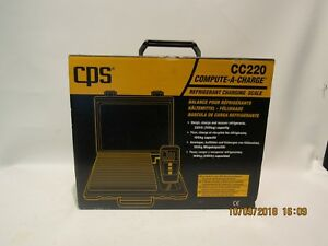 Cps Cc220 Compute a charge Refrigerant Charging Scale 220lbs Capacity