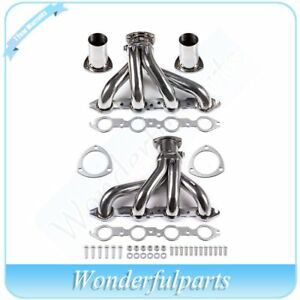 Shorty Stainless Steel Manifold Exhaust Header Fit Chevy 366 454 Big Block Bbc