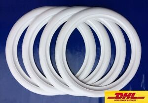 Hot Rod 15 New Rubber White Wall Tire Trim Port a wall set 4pcs vw Bug Beetle